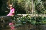 A botanikus kert tavánál